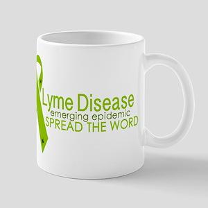 Lyme Disease Ribbon with ticks - Emerging Epi Mugs