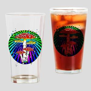 Haight Ashbury Mushrooms Drinking Glass