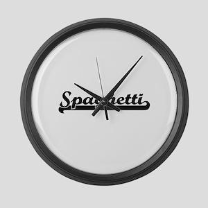 Spaghetti Classic Retro Design Large Wall Clock
