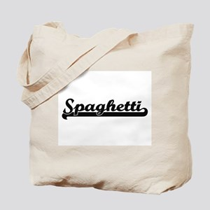 Spaghetti Classic Retro Design Tote Bag