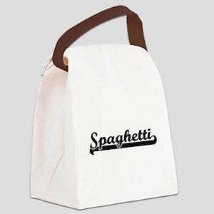 Spaghetti Classic Retro Design Canvas Lunch Bag