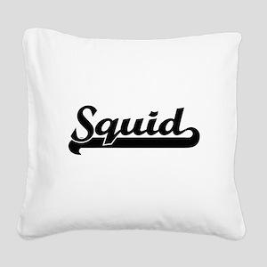 Squid Classic Retro Design Square Canvas Pillow