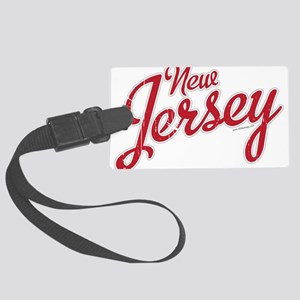 New Jersey Script Font Luggage Tag