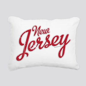 New Jersey Script Font Rectangular Canvas Pillow