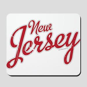 New Jersey Script Font Mousepad