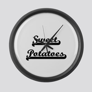 Sweet Potatoes Classic Retro Desi Large Wall Clock