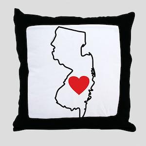 I Love New Jersey Throw Pillow