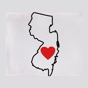 I Love New Jersey Throw Blanket