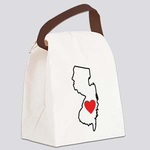 I Love New Jersey Canvas Lunch Bag