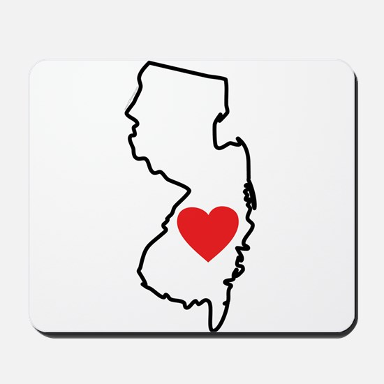 I Love New Jersey Mousepad