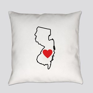 I Love New Jersey Everyday Pillow