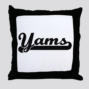 Yams Classic Retro Design Throw Pillow