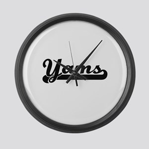 Yams Classic Retro Design Large Wall Clock