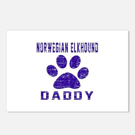 Norwegian Elkhound Daddy Postcards (Package of 8)