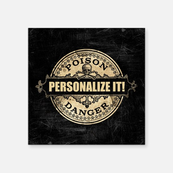 PERSONALIZED Poison Label Sticker