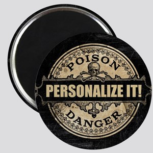 PERSONALIZED Poison Label Magnets