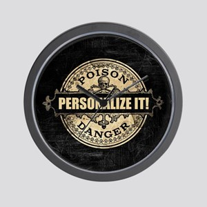 PERSONALIZED Poison Label Wall Clock