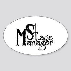 Stage Manager Oval Sticker