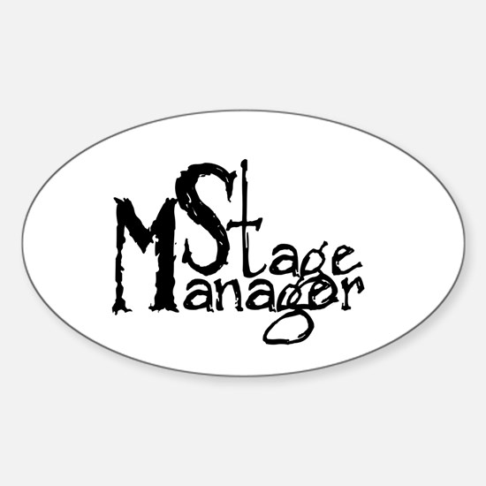 Stage Manager Oval Decal