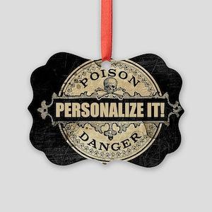 PERSONALIZED Poison Label Ornament