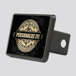 PERSONALIZED Poison Label Hitch Cover