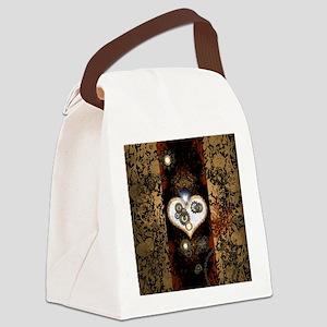 Steampunk, beautiful heart Canvas Lunch Bag
