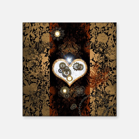 Steampunk, beautiful heart Sticker
