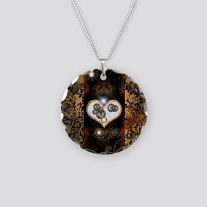 Steampunk, beautiful heart Necklace