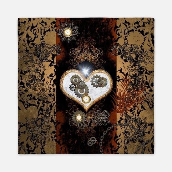 Steampunk, beautiful heart Queen Duvet