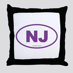 New Jersey NJ Euro Oval Throw Pillow