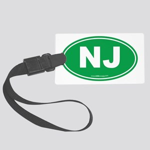 New Jersey NJ Euro Oval Large Luggage Tag