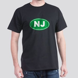 New Jersey NJ Euro Oval Dark T-Shirt