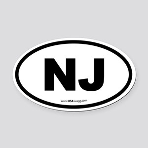 New Jersey NJ Euro Oval Oval Car Magnet
