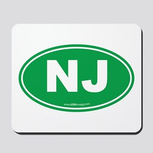 New Jersey NJ Euro Oval Mousepad