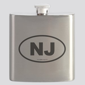 New Jersey NJ Euro Oval Flask