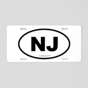 New Jersey NJ Euro Oval Aluminum License Plate
