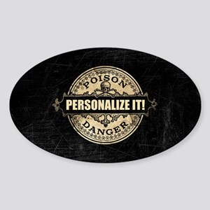PERSONALIZED Poison Label Sticker
