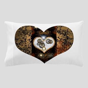 Steampunk, beautiful heart Pillow Case