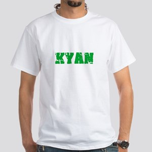Kyan Name Weathered Green Design T-Shirt