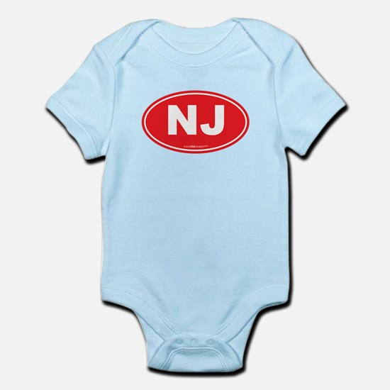 New Jersey NJ Euro Oval Infant Bodysuit