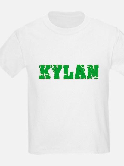 Kylan Name Weathered Green Design T-Shirt