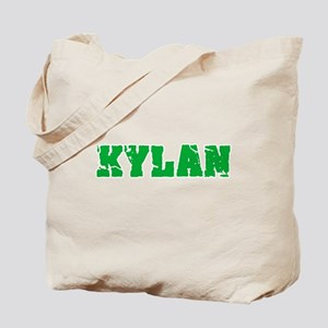 Kylan Name Weathered Green Design Tote Bag