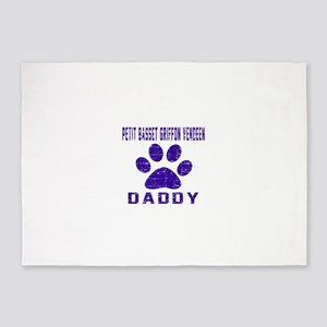 Petit Basset Griffon Vendeen Daddy 5'x7'Area Rug