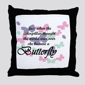 Inspirational Butterfly Throw Pillow