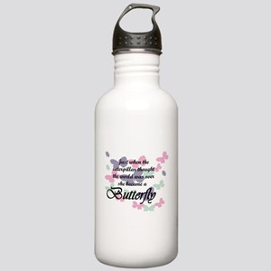 Inspirational Butterfl Stainless Water Bottle 1.0L