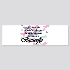 Inspirational Butterfly Bumper Sticker