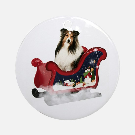 Magic Sleigh Sheltie Ornament