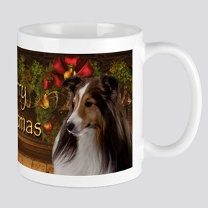 Holiday Sheltie Mug