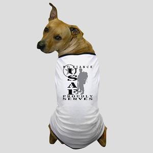 Fiance Proudly Serves 2 - USAF Dog T-Shirt