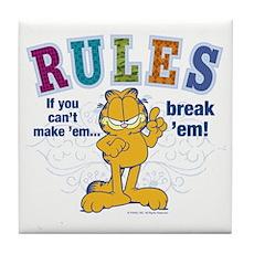 Break Rules Garfield Tile Coaster